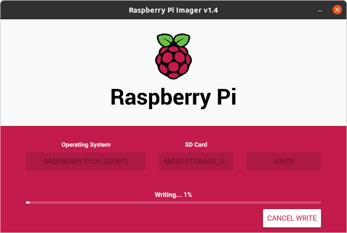 Flashing Raspberry Pi OS into SD Card